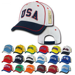 1 Dozen Country Logo Jersey Mesh 6 Panel Constructed Baseball Caps Hat Wholesale