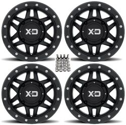 Kmc Xs228 Machete Beadlk Atv Wheels +35mm Bk 14 Can-am Renegade Outlander 4