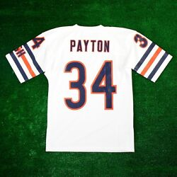 Walter Payton 1985 Chicago Bears Mitchell And Ness Authentic White Jersey Men's