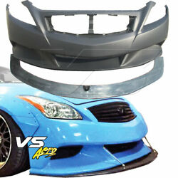 Frp Lbpe Wide Body Front Bumper W Splitter 2dr Coupe Fits Infiniti G37 Coup