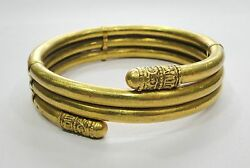 Vintage Antique Traditional Handmade 22k Gold And Copper Jewelry Bracelet Bangle