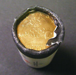 2004 Canada Olympic Lucky Loonie Roll 25 Coins 1 Coin One Dollar Canadian