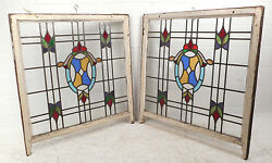 Vintage Stained Glass Window Panel 3035nj