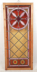 Vintage Stained Glass Window Panel 3052nj