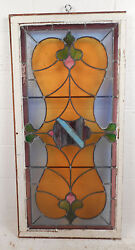 Vintage Stained Glass Window Panel 3089nj