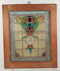Vintage Stained Glass Window Panel 3143nj