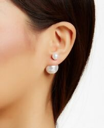 Fashion Double sided Faux Pearl Earrings