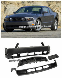 FORD MUSTANG 10-12 GT STYLE FRONT BUMPER COVER W GRILLE GRILL CONVERSION