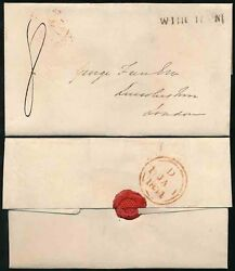 Gb 1831 January 1st Wingham Kent Wrapper To London 8d Provincial Post