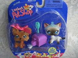 Littlest Pet Shop 1st 80 Pets SIAMESE CAT lot #5 SHIH TZU #6 Rare Retired NIB 04
