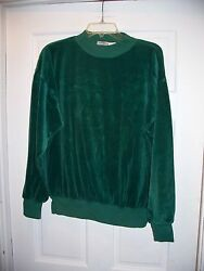 Camberly Knits Size XL Christmas Green Pull Over Casual Top Cotton Long Sleeve $6.99