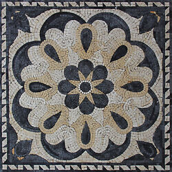 Abstract Floral Art Natural Stone Home Decor Marble Mosaic Geo2549