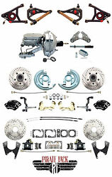 1964-72 Deluxe Front And Rear Wilwood Disc Brake Kit Package Chrome Master And Arms