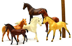 Breyer Horse Lot Of 6 Classic Horses Andalusian Quarter Foal And Stallion Jet Run+