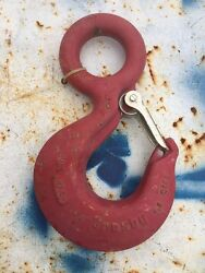 Crosby 10 Ton Eye Hook With Latch New Hoist Rigging Lifting