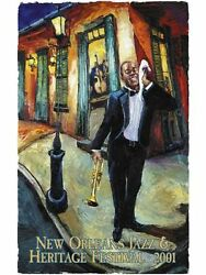 New Orleans Jazz Fest Poster 2001 Remarque Publisher Print 90/100 Mint Condition