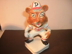 1940's Detroit Tigers Tiger Head Stanford Pottery Bank