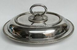 Vintage Japanese 950 Sterling Silver Covered Entree Dish 47.4 Ozs