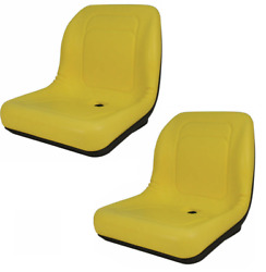 Set Of 2 High Back Seats For John Deere Trail Worksite And Turf Gator 4x2 6x4