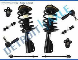 New 10pc Complete Front Quick Strut And Spring Suspension Kit For Gm Vehicles