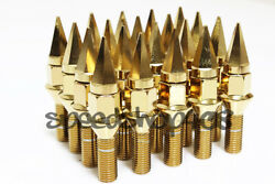 Z Racing 28mm Gold Spike Lug Bolts 12x1.5mm For Bmw 5 Series Cone Seat