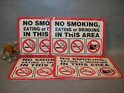 No Smoking Eating Or Drinking Lot Of 4 Emedco Signs