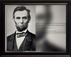 Abraham Lincoln Photo Picture Poster Or Framed Famous Quote When You Reach