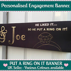 3m Long Personalised Engagement Banner Put A Ring On It Party Decoration