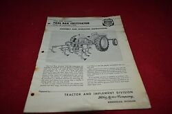 Ford Tractor Rear Mounted Tool Bar Cultivator Operator's Manual Yabe11