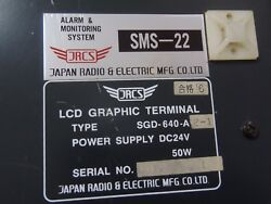 Jrcs Sgd-640-a E1 Lcd Graphic Terminal Sms-22 Alarm And Monitring System