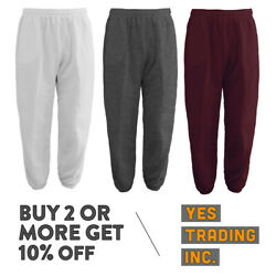MENS WOMENS UNISEX PLAIN SWEATPANTS 3 POCKET CASUAL JOGGERS FLEECE PANTS GYM $13.50