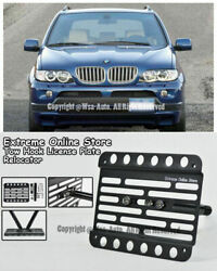 For 99-06 Bmw E53 X5 Front Tow Hook License Plate Mount Relocator Bracket