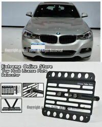 For 14-up Bmw F34 3-series Gran Turismo Stand Tow Hook License Plate Bracket