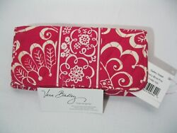 Vera Bradley TWIRLY BIRDS PINK Gallery WALLET CLUTCH Trifold For TOTE Purse  NWT