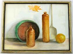 A 1960and039s Still Life Watercolour. Kitchen Scene Signed And Framed