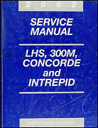 2002 LHS 300M Concorde Intrepid Service Manual Chrysler Dodge Repair Shop OEM