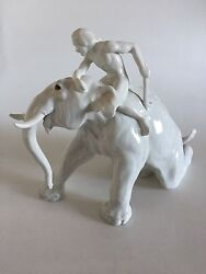 Bing And Grondahl Figurine Mahout With Elephant 1858