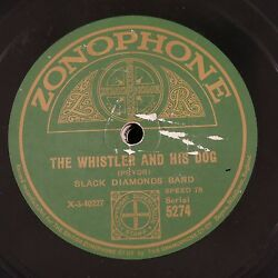 78rpm Black Diamonds Band Whistler And His Dog / In A Clockmakers Shop