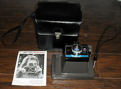 Vintage 1960s Polaroid Land Camera Colorpack Ii With Case And Instructions