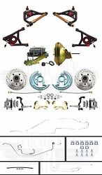 Complete Chevelle Front Power Disc Brakes Full Line Set Tubular Upper And Lowers