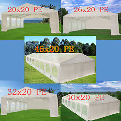 PE Party Tent - Carport Wedding Shelter Canopy with Storage Bags  - x 20' Series