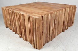 Contemporary Modern Square Wood Coffee Table 2843nj