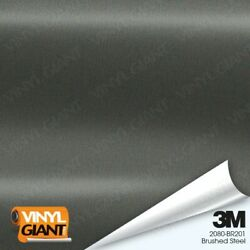 3m 2080 Br201 Brushed Steel Vinyl Vehicle Car Trim Wrap Decal Film Sheet Roll