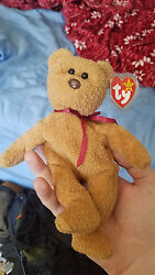 Ty Beanie Baby Curly Bear Retired With Tag Errors Rare