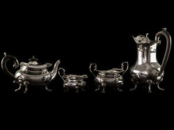 1917 Sterling Silver 4 Piece Coffee And Tea Serving Set
