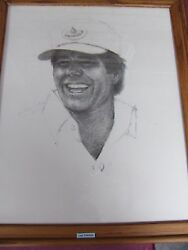 The Legends Of Golf, Series By Paul Milosevich, 7 Total Charcoal Framed Art