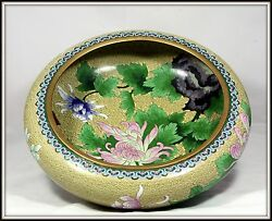 Extraordinary Grand Size Hand Made Chinese Cloisonne Bowl 15 Diameter