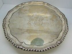 Vintage 1774 Sterling Silver Card Tray – Footed – Richard Rugg Maker