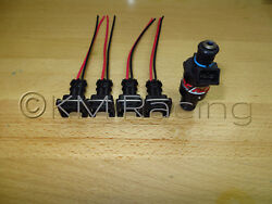 4x Rc Engineering Fuel Injector Connector Pigtails Quick Disconnect