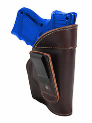 New Barsony Burgundy Leather Tuckable IWB Holster for Compact 9mm 40 45 Pistols